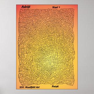 Adrift Maze Poster