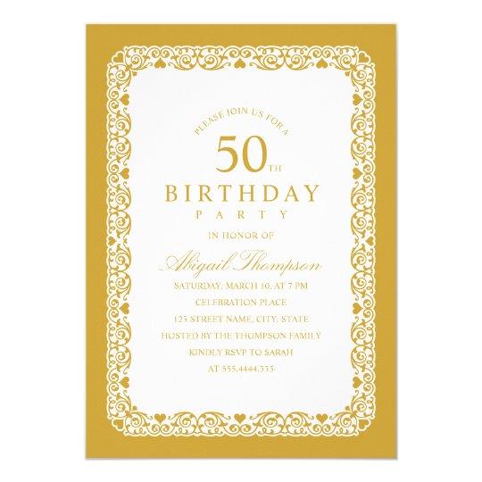 Adult 50th Birthday Party Elegant Simple & Classy