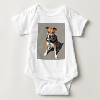 Adult American Staffordshire Terrier Dog Baby Bodysuit