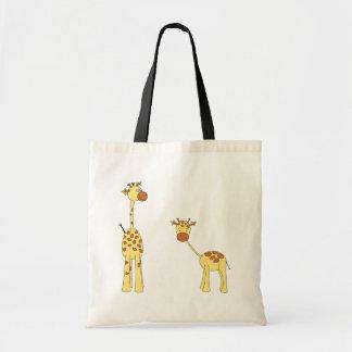 Adult and Baby Giraffe. Cartoon