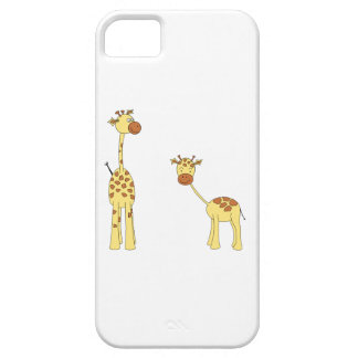 Adult and Baby Giraffe. Cartoon Barely There iPhone 5 Case