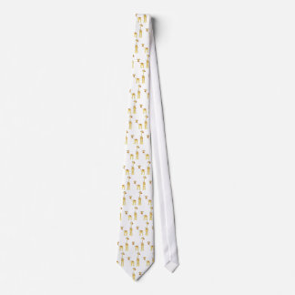 Adult and Baby Giraffe. Cartoon Tie