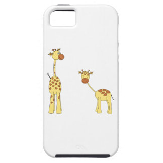 Adult and Baby Giraffe. Cartoon Tough iPhone 5 Case