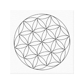 ADULT BEGINNERS PAINTING CANVAS 'FLOWER OF LIFE'