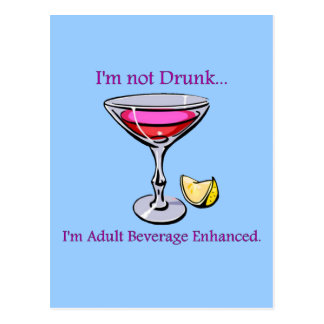 Adult Beverage Enhanced Postcard
