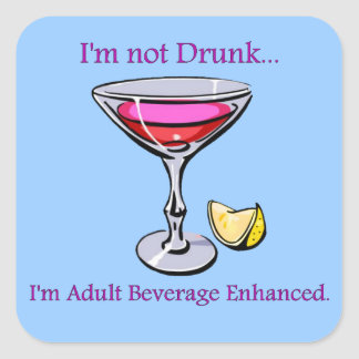 Adult Beverage Enhanced Stickers