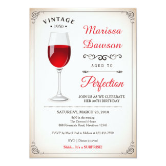 Adult Birthday Invitation / Wine Invitation
