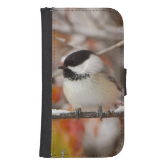 Adult Black-capped Chickadee in Snow, Grand Samsung S4 Wallet Case