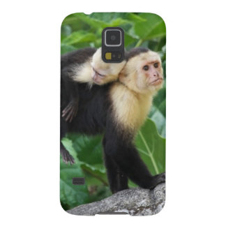 Adult Capuchin Monkey Carrying Baby On Its Back Case For Galaxy S5