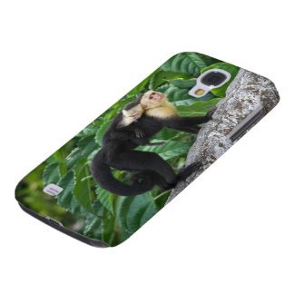 Adult Capuchin Monkey Carrying Baby On Its Back Galaxy S4 Case