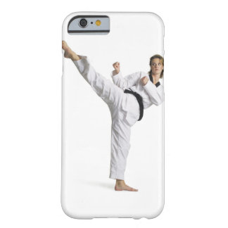 adult caucasian female martial arts expert in barely there iPhone 6 case