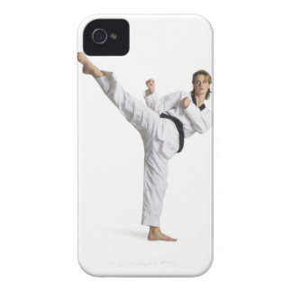 adult caucasian female martial arts expert in Case-Mate iPhone 4 case