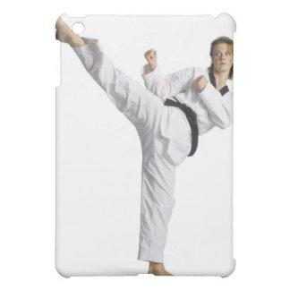 adult caucasian female martial arts expert in iPad mini case