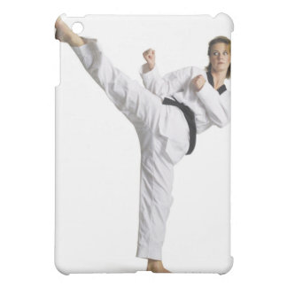 adult caucasian female martial arts expert in iPad mini cover