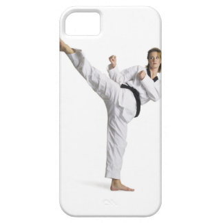 adult caucasian female martial arts expert in iPhone 5 cover