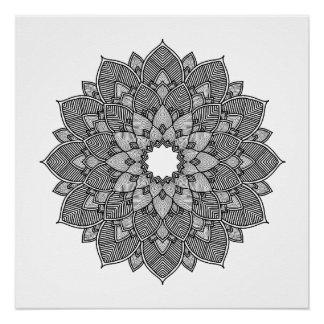 Adult Coloring Floral Mandala