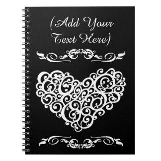 Adult Coloring: Heart Mandala Notebook