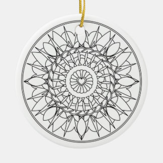 Adult Coloring Mandala Ornament