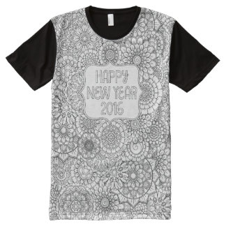 Adult Coloring New Year All-over Print T-shirt