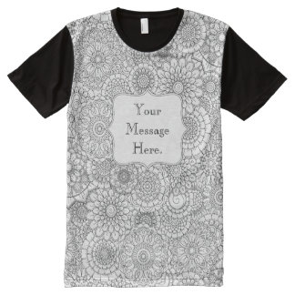 Adult Coloring Personalized All-over Print T-shirt