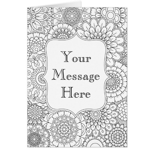 Adult Colouring Book Personalised Greeting Card