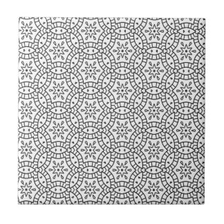 Adult Colouring Page Pattern Design Tile