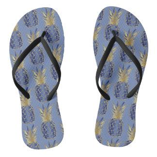 Adult flip-flops, fine strap Pineapple Flip Flops