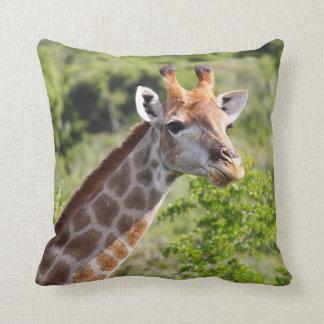 Adult Giraffe Face and Neck Throw Pillow