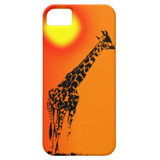 Adult giraffe in sunset IPhone case