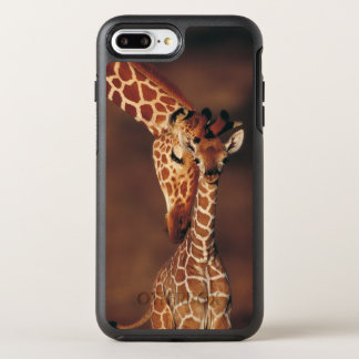 Adult Giraffe with calf (Giraffa camelopardalis) OtterBox Symmetry iPhone 8 Plus/7 Plus Case
