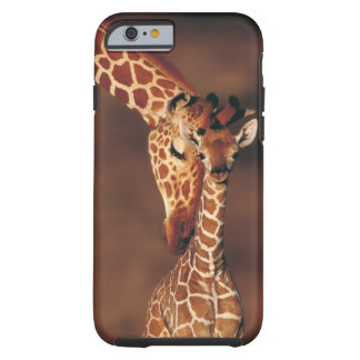 Adult Giraffe with calf (Giraffa camelopardalis) Tough iPhone 6 Case