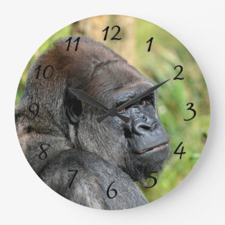 Adult Gorilla Large Clock