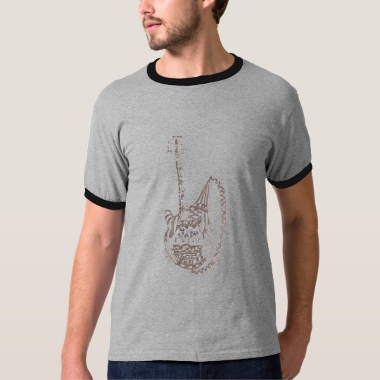 adult guitar t-shirt