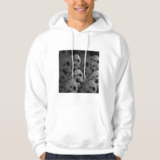 adult hoodie with skulls on front