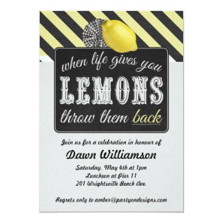 Adult Lemonade Party - Divorce Party Girls Night 13 Cm X 18 Cm Invitation Card