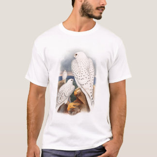 Adult Light Greenland Falcon Birds Great Britain T-Shirt
