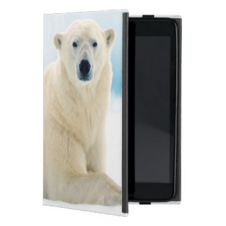 Adult polar bear large boar on the summer ice case for iPad mini
