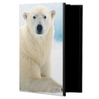 Adult polar bear large boar on the summer ice iPad air cover