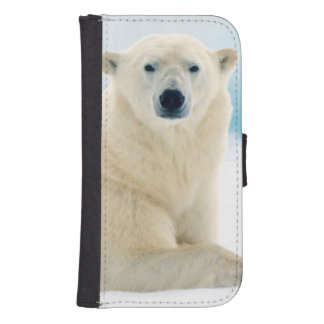 Adult polar bear large boar on the summer ice samsung s4 wallet case