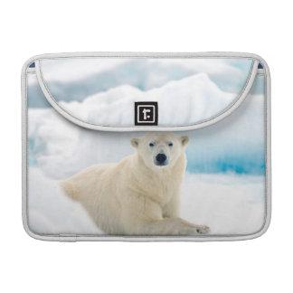 Adult polar bear large boar on the summer ice sleeve for MacBooks