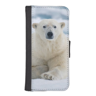 Adult polar bear on the summer pack ice iPhone SE/5/5s wallet case