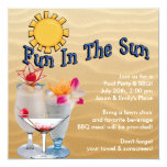 Adult Pool Party and BBQ Custom Invite