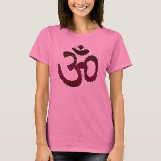 Adult Shirt, Ohm Symbol, Dark Reddish Purple T-Shirt