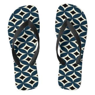 Adult slipper, Fine Straps - Geometric Designer Flip Flops