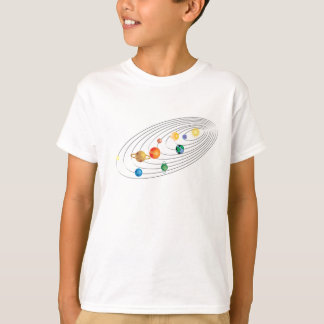 Adult Solar System Space Tee
