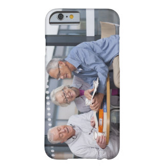 Adult students studying together in cafe barely there iPhone 6 case