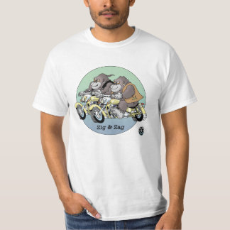 Adult T Shirt - Zig & Zag, Bikers are Animals ©
