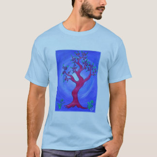 Adult Tee Shirt -Simply Red The Tree