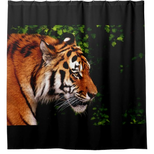 Adult Wild Tiger Right Facing Shower Curtain