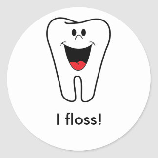 Adulting: I floss Round Sticker
